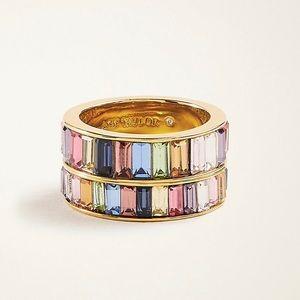 Ann Taylor Rainbow 🌈 Baguette Crystal ring